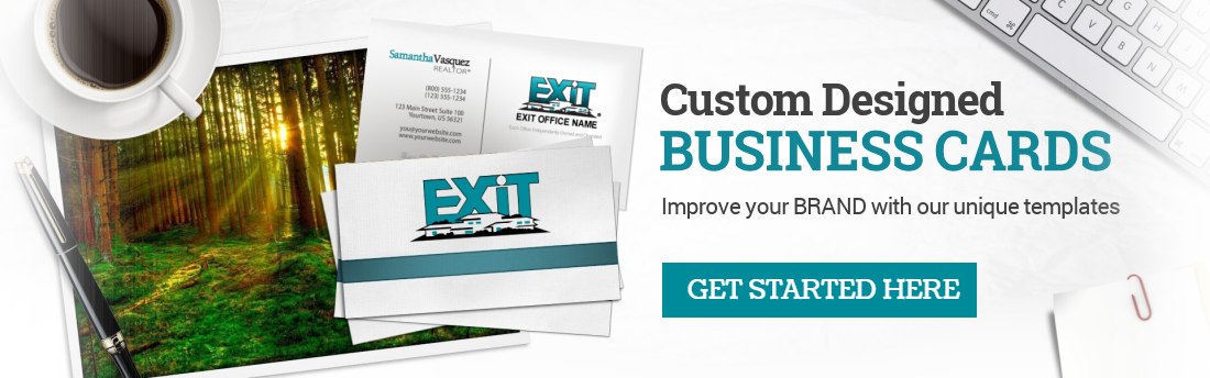 Exit realty business cards free shipping custom exit templates colourmoves